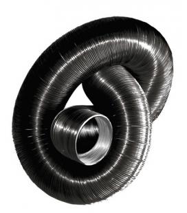 Gaine semi-rigide aluminium noir