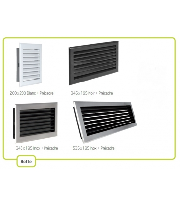 Grille d 39 air chemin e grille d compression hotte lamelles for Hotte inox brosse