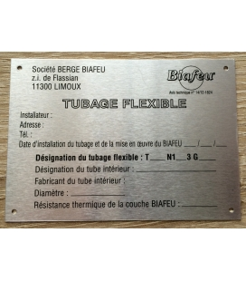Plaque signalétique Biafeu