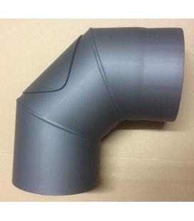 Coude 90° trappe visite acier 2mm gris